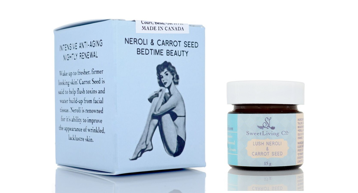 Lush Neroli & Carrot Seed Intense Renewal Beauty Cream - Sweet Living Co. Heirloom Collection. Handmade in Saskatoon. Vegan & Paleo Beauty Experts.