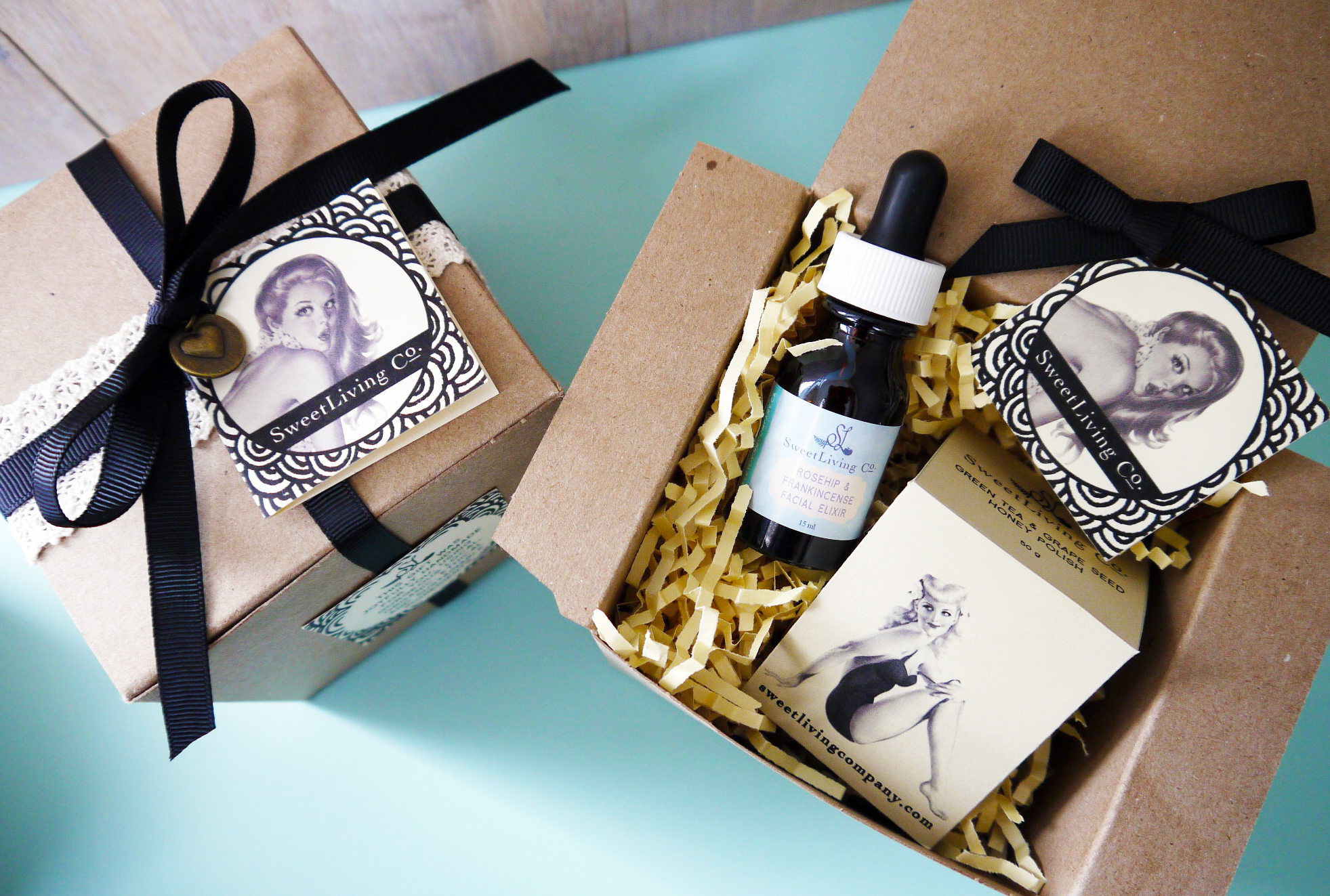 Brighten-up Beauty Box - Handmade in Calgary by Sweet Living Co. Organic, Natural Skincare.