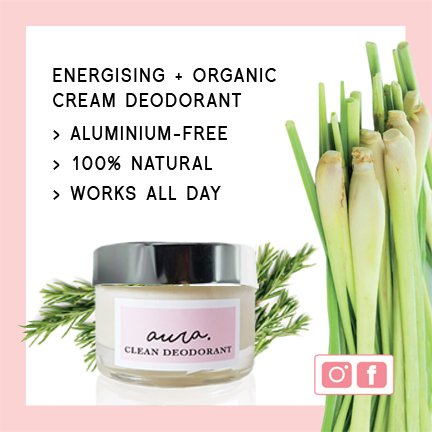 As Seen In YOU Magazine Best of British & YOU Beauty Box UK. Aura Clean Deodorant. Natural Deodorant That Works. Aluminium Free. Organic. By Sweet Living Company.
